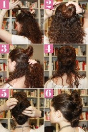 curly fauxhawk hair style - simple