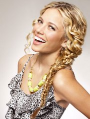 double braid curly hairstyle