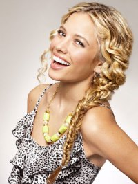 Double Braid Curly Hairstyle - Fishtail Braid For Curly Hair