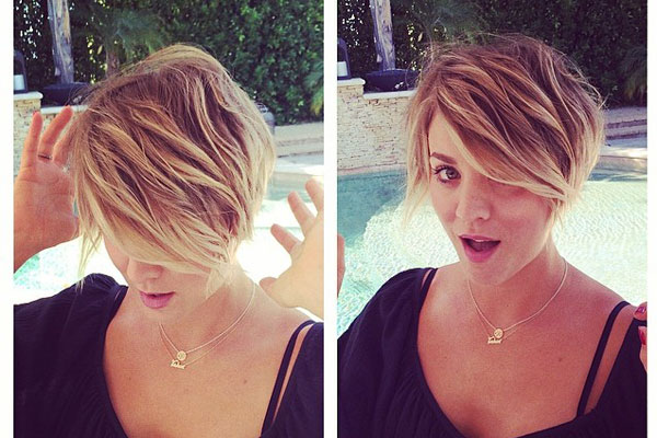 "You were just getting used to Kaley's long bob, when the TV star debuted this cool pixie cut! She gave her hairstylist a shout-out on Instagram: ""Thank you @clsymonds for bringing out my inner Peter Pan :) #byronbeverlyhills #justcutitoff"""
