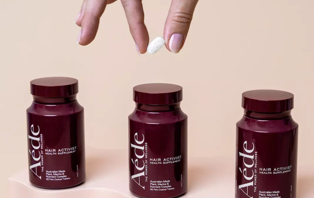 Product photography for hair supplement AÉDE