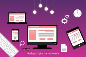 soziale Medien und Autorenseite
