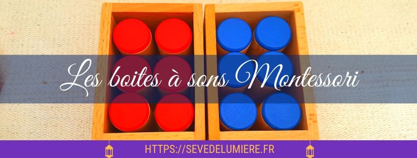 boites à sons Montessori