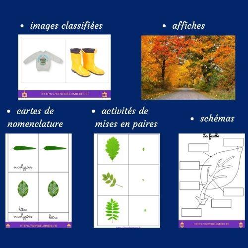 pack d'activités automne montessori