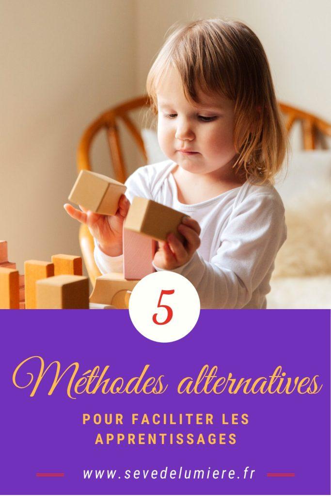 Comment apprendre autrement ? 5 méthodes pour faciliter les apprentissages. #pédagogieallternative #pédagogiemontessori #apprendreautrement
