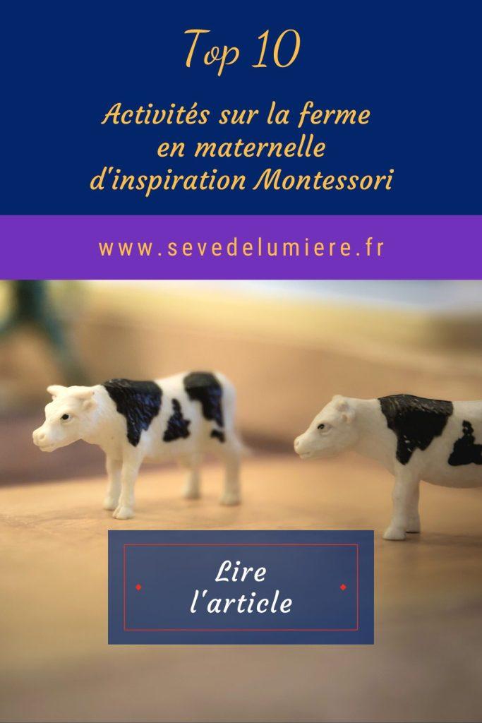 Activités en maternelle sur la ferme d'inspiration Montessori. #animauxdelaferme #pédagogiemontessori
