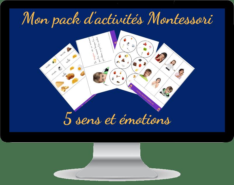activités Montessori 5 sens et émotions