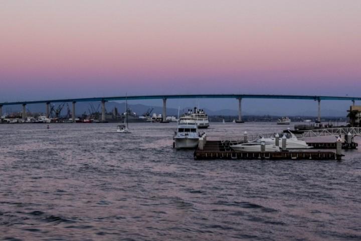 Мост Сан-Диего - Коронадо. Предзакатное время
