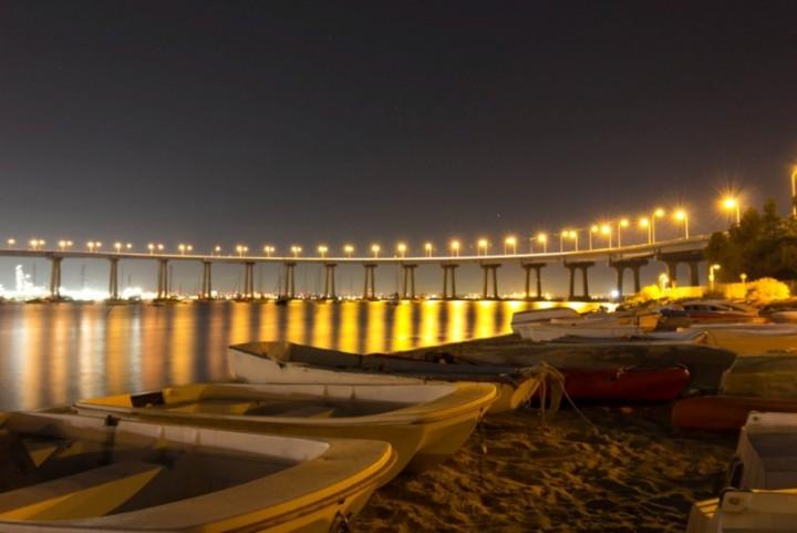 Мост Сан-Диего - Коронадо в вечернее время