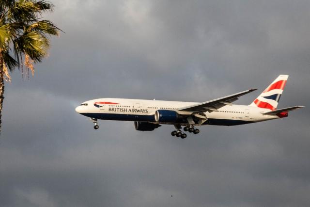 Аэропорт Сан-Диего. Боинг 777 (Boeing 777) компании British Airways