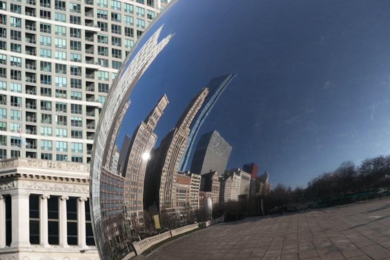 Чикаго Достопримечательности Миллениум парк Чикагский боб Chicago Millennium Park The Bean