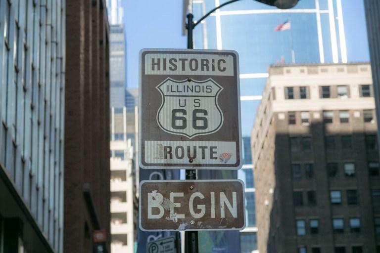 Чикаго Достопримечательности Начало трассы US-66