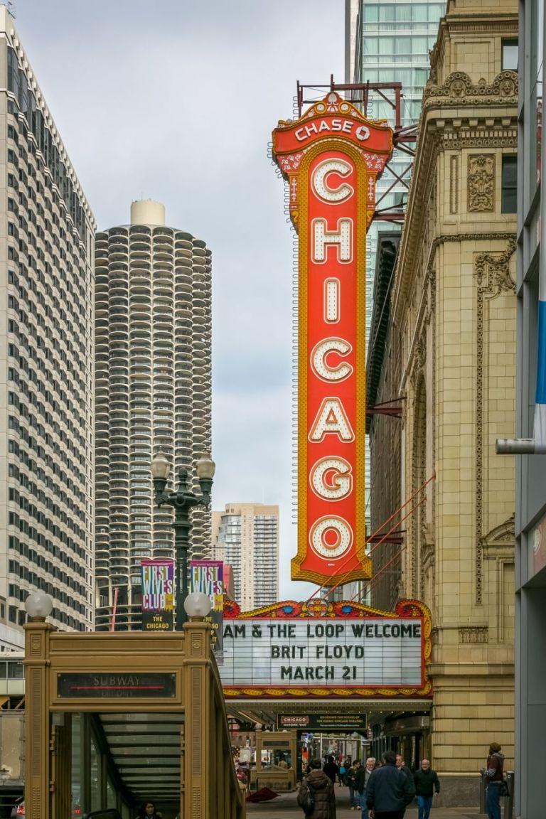 Chicago Theater Чикаго Достопримечательности
