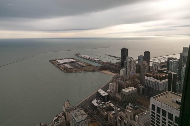 Чикаго. Достопримечательности. Вид на город со смотровой площадки Центра Джона Хэнкока