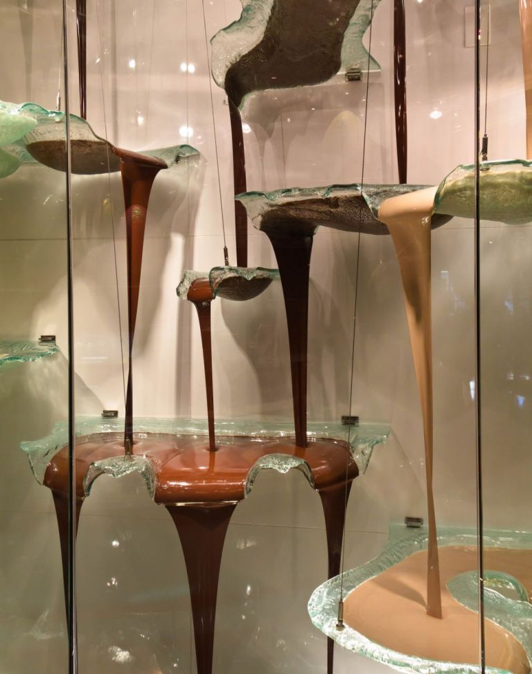 Шоколадный фонтан в отеле Белладжио. Лас-Вегас Стрип