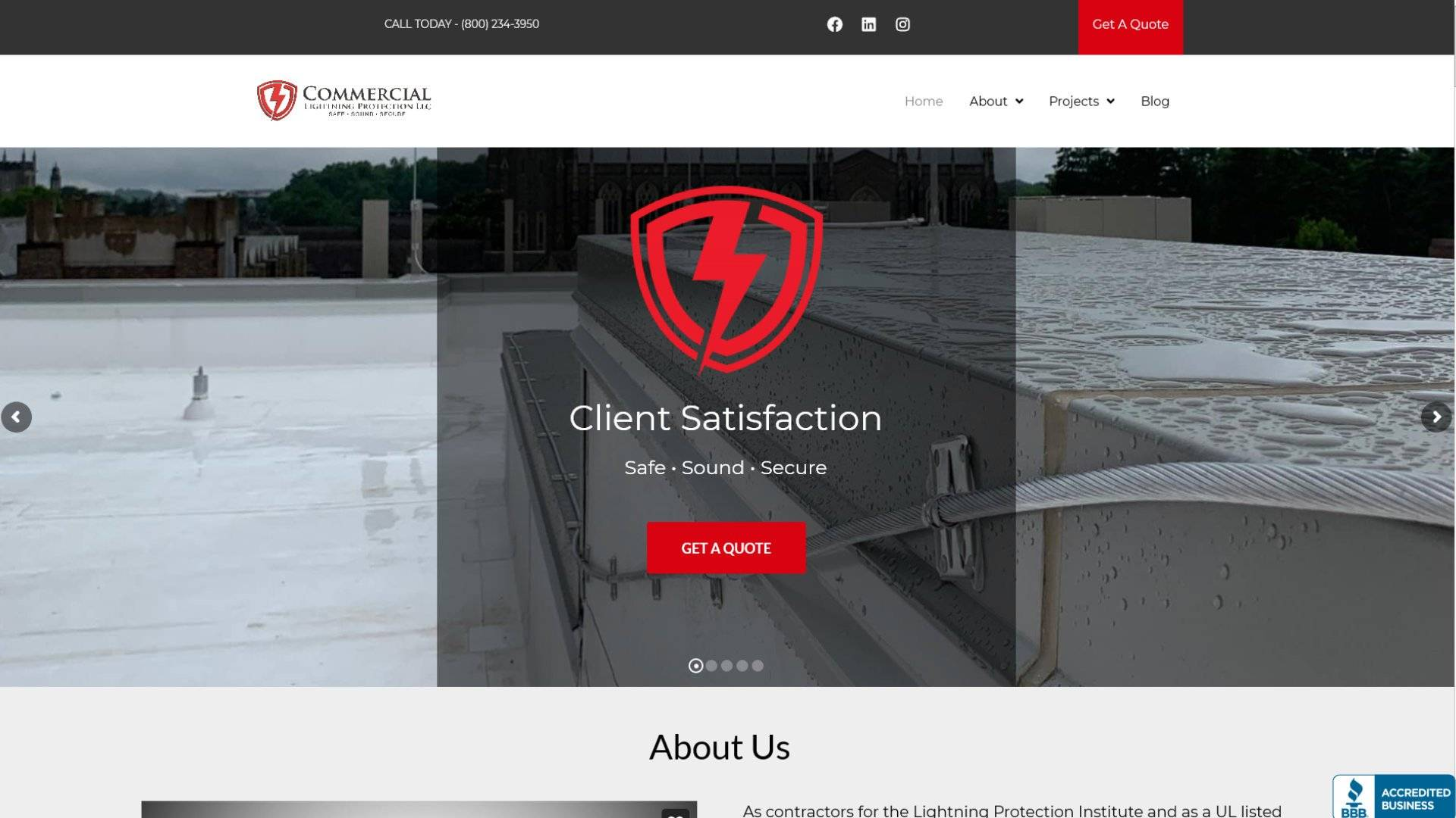 Commercial Lightning Protection Case Study Placeholder Image