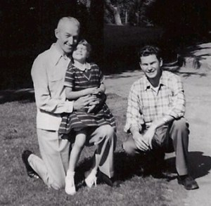 Dad, Cathy, Larry, 1954 San Jose State