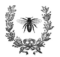 Bee and wreath