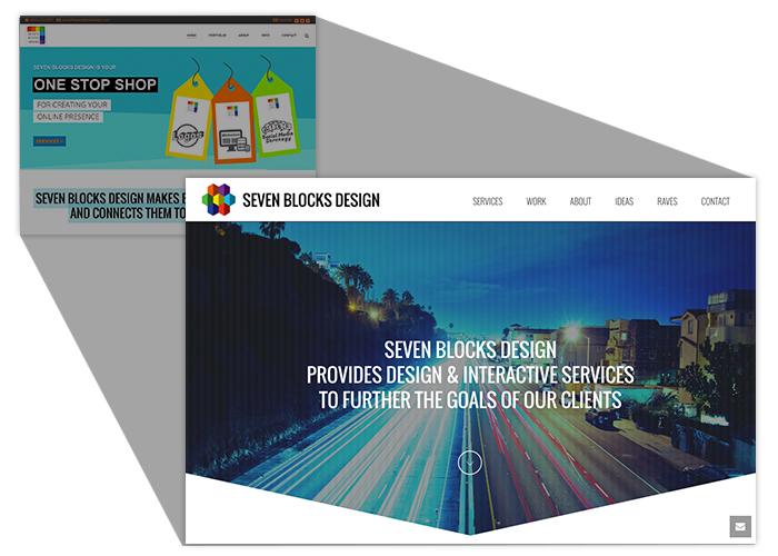 Seven Blocks Design: New Brand - New Site
