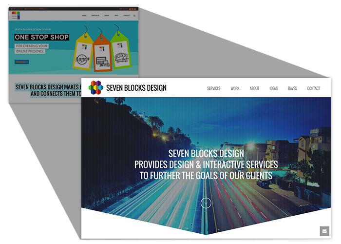 Seven Blocks Design: New Brand - New Site