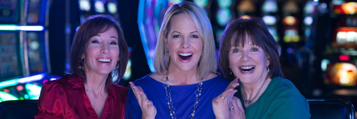 Women enjoying the casino