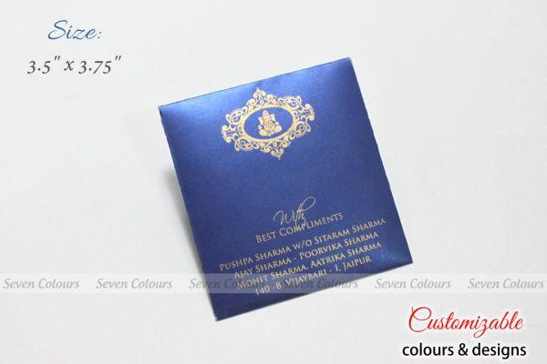 Square Blue Money Envelopes