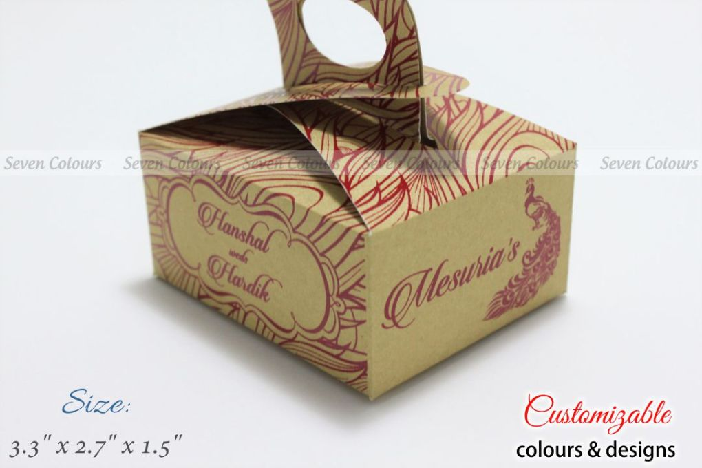 peacock cake box with handle