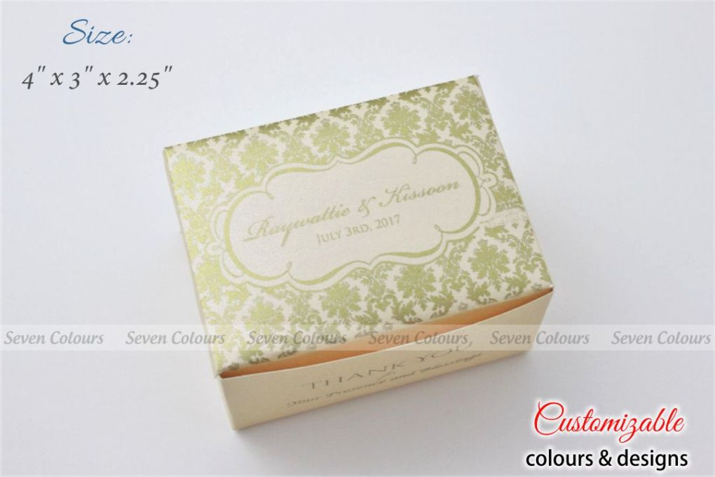 cream small size cake box for tamil wedding