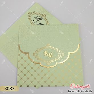 pista green pastel colour indian wedding cards