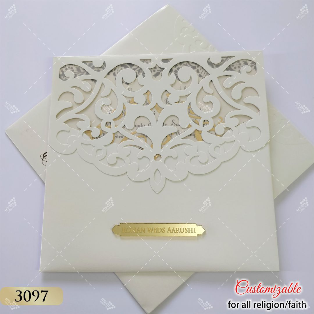 white ivory pastel shade jaali cut work indian wedding design
