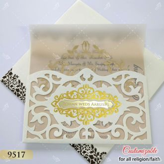 white cheaper option lasercut card