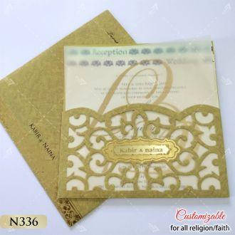 gold laser cut butter paper design