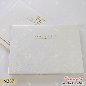 White lotus theme hardcover card