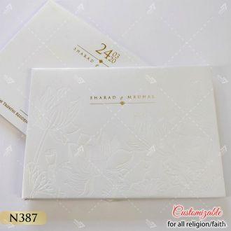 White lotus theme hardcover card