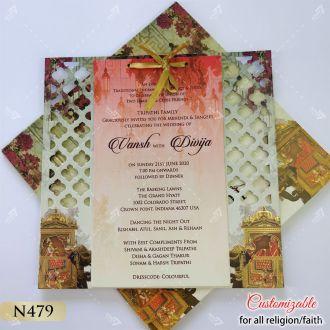 lasercut elephant designer wedding card