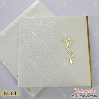 simple and elegant designer wedding card in thick padding and hardcover