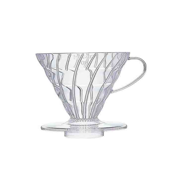 Clear V60 dripper