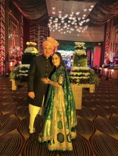 Meet the Sevenfold Team: Team member, Demi, pictured with her husband at a Hindu wedding.