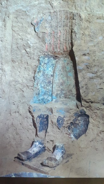 A photograph of the original colors a warrior was painted with.