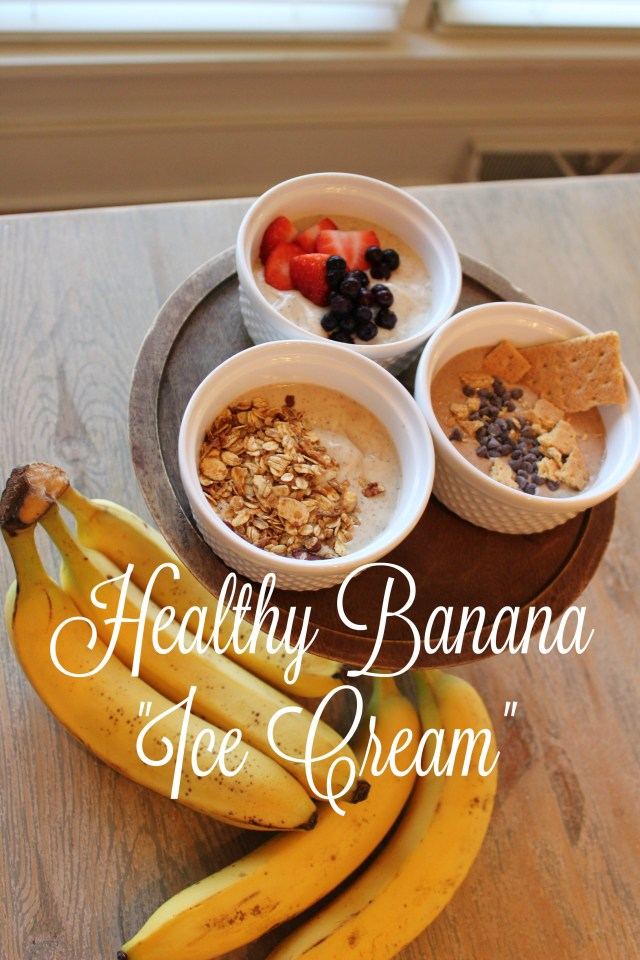healthy banana ice cream; ice cream alternative recipe