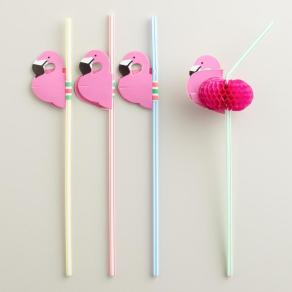 fun flamingo straws for summer