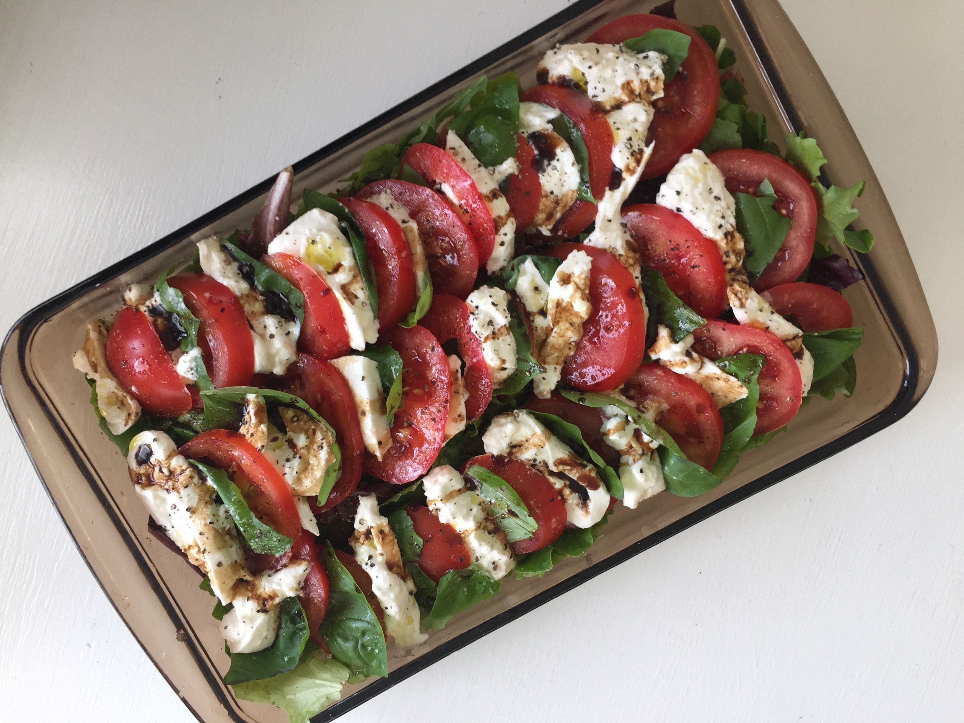 Caprese Salad with Burrata instead of Mozzarella