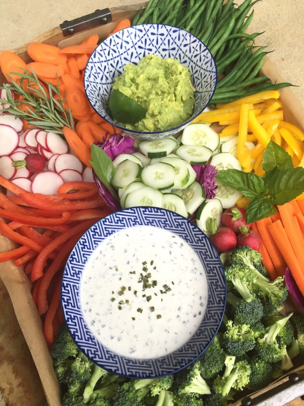 how to put together a vegetable tray