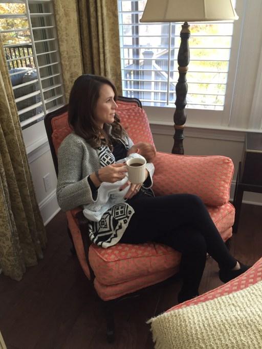nursing; new mom breastfeeding