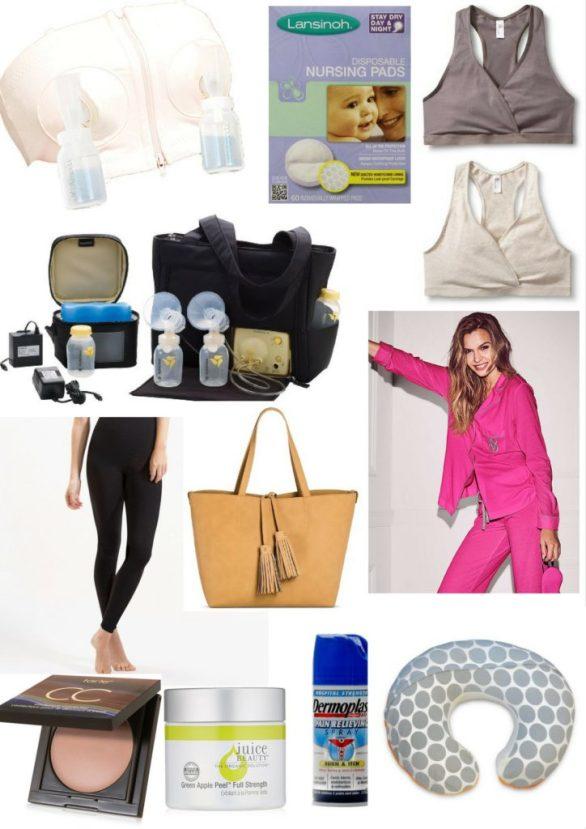 postpartum essentials; new mom favorites; breastfeeding