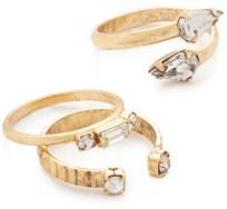 Friday Favorites; Elizabeth Cole gold ring set
