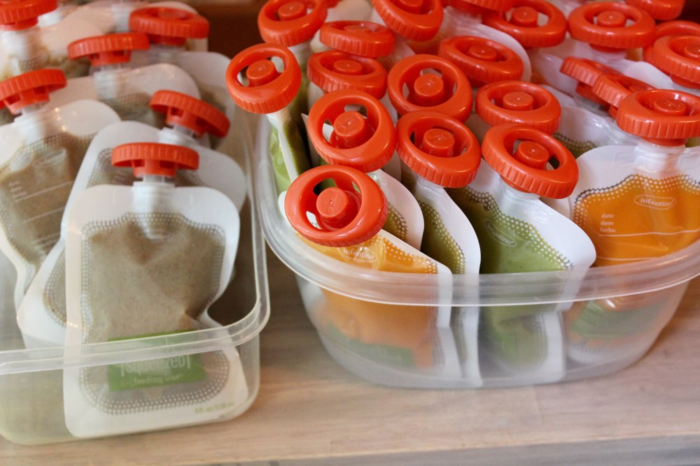 homemade baby food squeeze pouches