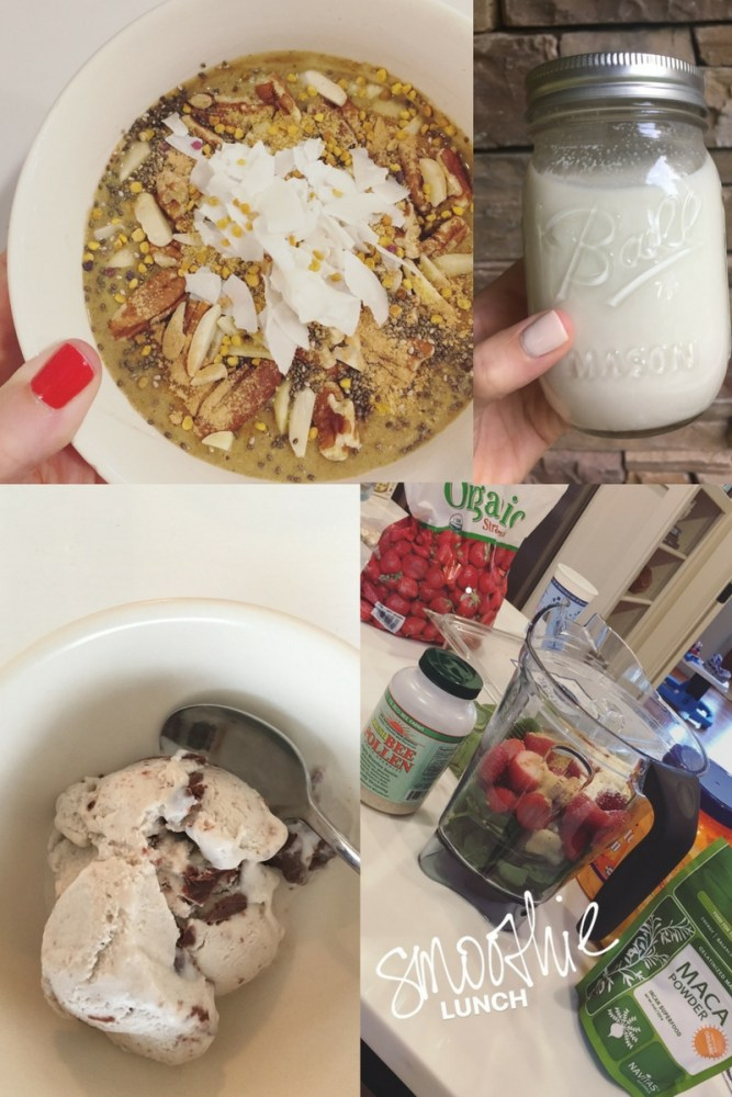 what I've been eating lately; smoothies, paleo ice cream, cashew milk