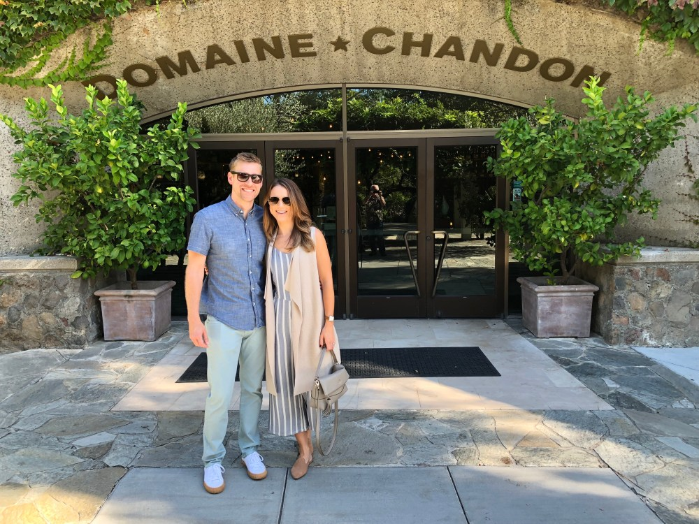 domaine chandon; our trip to napa valley and san francisco