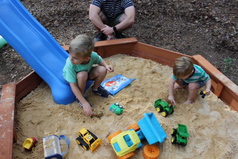 sandbox; teddy bear first birthday party; Ridge first birthday party